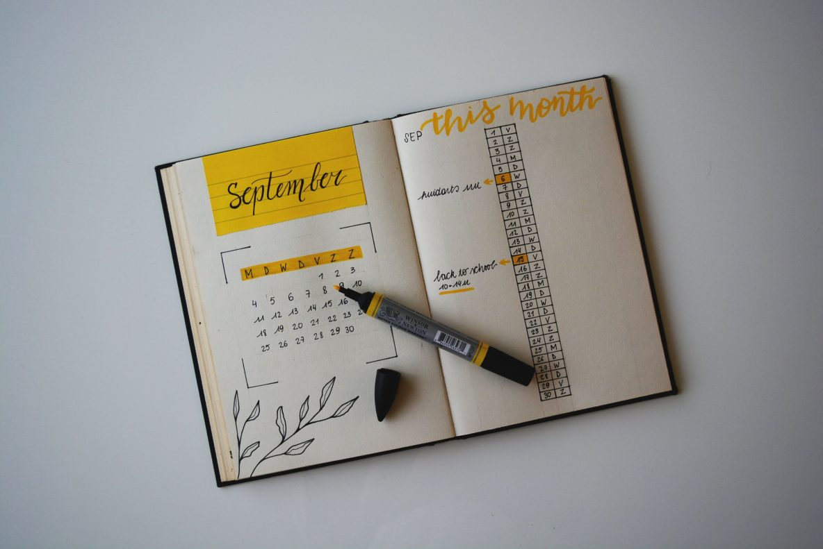 Get organised for September
