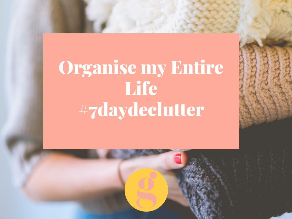 Organise my life - declutter
