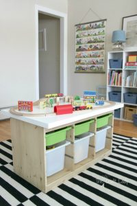 IKEA toy decluttering and organisation tips