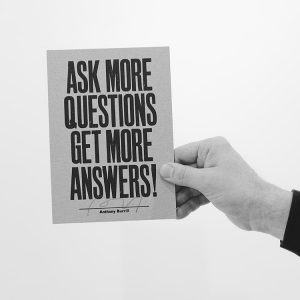 Ask more questions - career switch